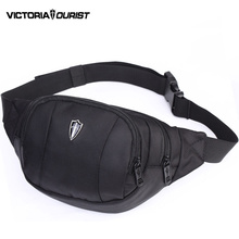 VICTORIATOURIST waist bag men/men fanny pack/belt bag/fashion waist pack /waterproof nylon bum bag men/hip pack/V5001 black/blue