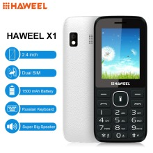 Haweel X1 Mobile Phone 2.4 inch GSM Phone Dual SIM Big Speaker FM TF Flashlight Russian Keyboard Elder Phone Add Fidget Spinner