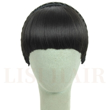 Buy LISI HAIR Short Braid Blunt Bangs Natural Tidy Hairpieces Heat Resistant Synthetic Women Hair for $5.18 in AliExpress store
