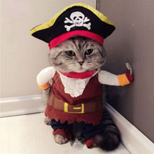 Funny Halloween Pet Cat Dog Pirate Costume Cosplay Clothes with Dog Puppy Decoration(China)