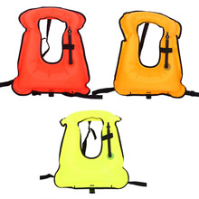 Inflatable Swimming Floating Vest Life Jacket Snorkeling Buoyancy Swimming Floating Vest for Adult 3 Colors(China)