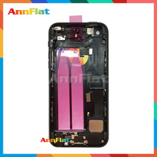 Red high quality For IPhone 5 5S Like 7 Style 7mini Full Housing Back Cover Battery Assembly Chassis with Flex Cables
