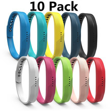 (3/6/10/12 Pack) Replacement Strap Watchband For Fitbit Flex 2 Bracelet Soft Sport Silicone Wrist Strap For Fitbit Flex 2