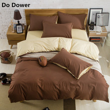 1pc Reactive Printing Bedding Quilt cover Set Super Soft Cotton Duvet Cover 16 Colour without comforter(China)