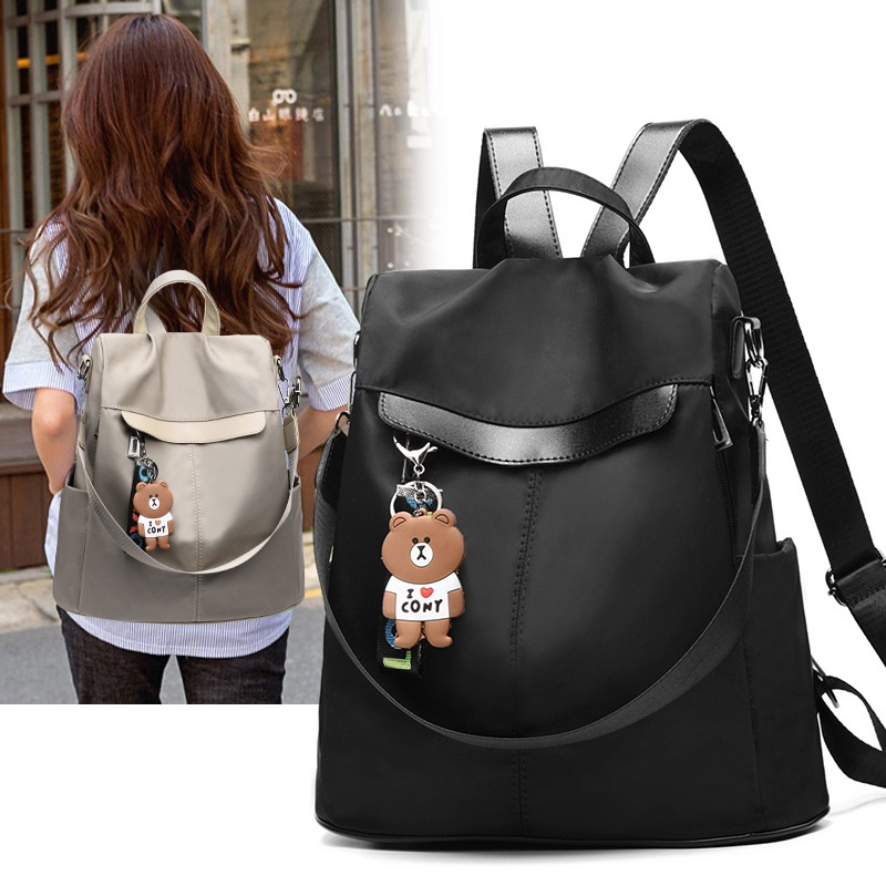 Large Capacity Backpack Women Preppy School Bags for Teenagers Female Oxford Travel Bags Girls Bear Pendant Backpack Mochilas 18 Online shopping Bangladesh