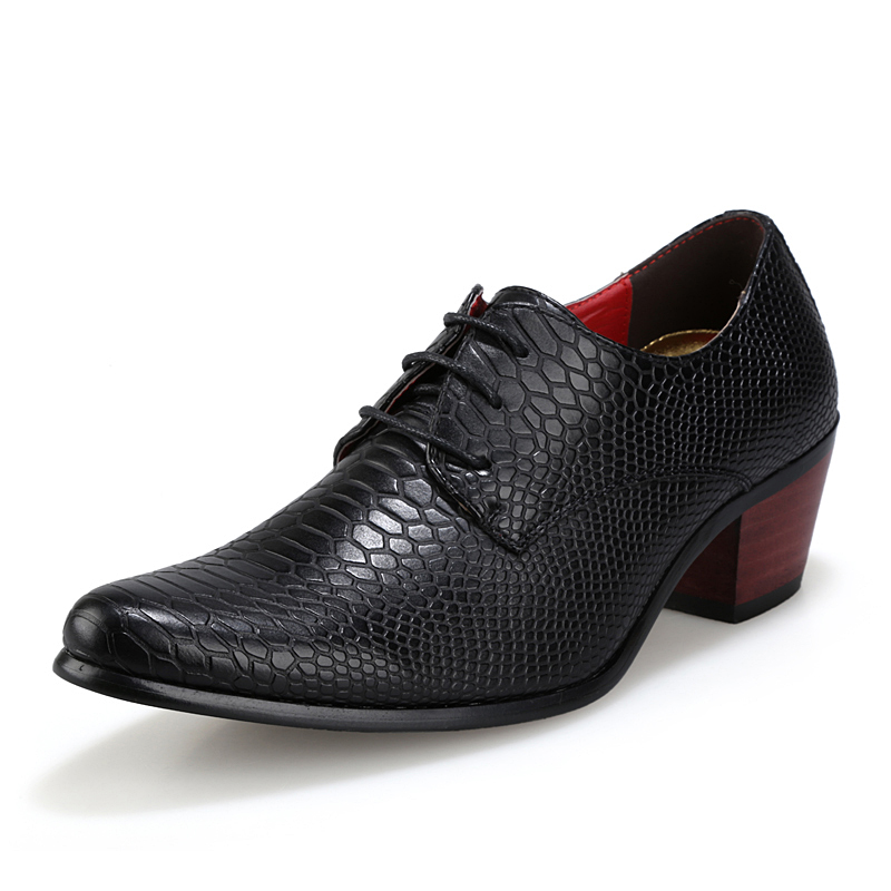 height increasing snake skin men shoes luxury brand italian formal leather male footwear pointed toe brogue oxford shoes for men (23)