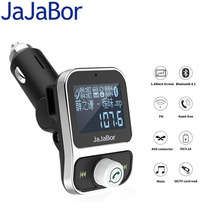 JaJaBor Bluetooth Car Kit Music Player FM Transmitter Hands free Build In MIC 1.44 Inch LCD Screen Show Song Name Dual USB Port(China)