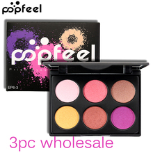 3pc Wholesale POPFEEL Brand Makeup Glitter Eye Shadows Waterproof Mineral Powder Shimmer Eyeshadow Pigment Cosmetics for Women(China)