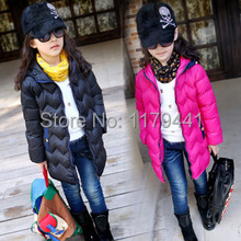 Girl's Cotton Jacket Children's Winter Outerwear Kids Keep Warm Padded Clothing Baby Coat Clothes 4-13year Free Shipping