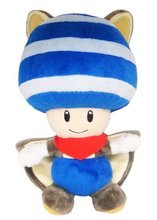 Super Mario Bros Blue Flyinq Squirrel Toad  Plush Toys