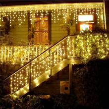 0.3-0.5m droop christmas lights fairy decoration led curtain icicle string lights fairy new year wedding party garland light(China)