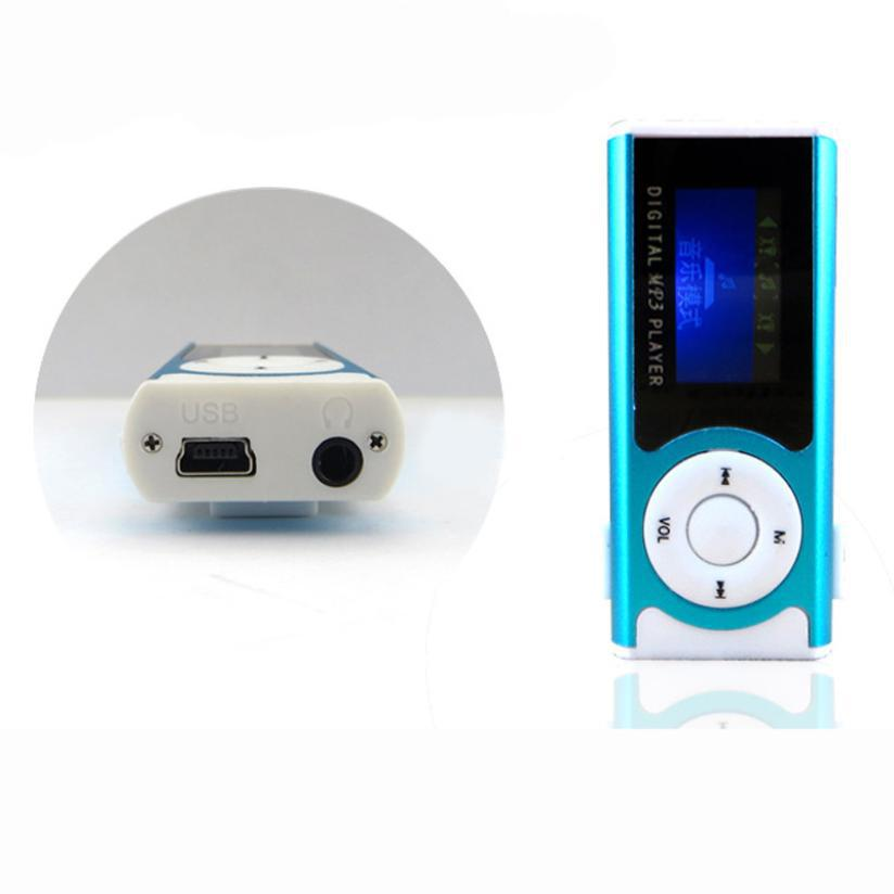 Portable Shiny Mini USB Clip LCD Screen MP3 Media Player Support 16GB Micro SD Card Sports MP3 Music Player MP3/WMA A29(China)