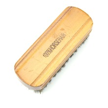 Middle Wood Horse Hair Bristles Shoe Polish Buffing Brush Boot Care Clean Wax HXP001(China)