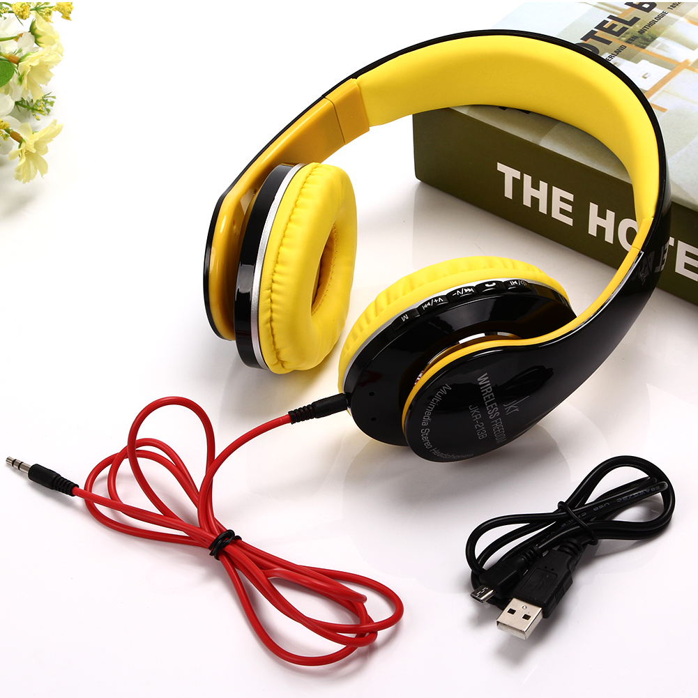 USB wireless Bluetooth headphones wireless headset with mic/micro SD card slot bluetooth headset for music phone<br><br>Aliexpress