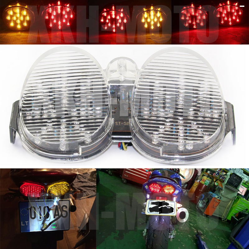 Aftermarket free shipping motorcycle parts New Rear Led Tail Light Fit For 2001-2002 Yamaha Yzf-R6 Yzf R6 Yzfr6 01 02 Clear<br>
