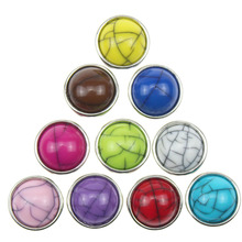 10pcs/lot Mixed Colors 12mm Snap Button Jewelry Rhinestones Metal Snap Fit Snap Bracelet Necklace Jewelry Accessories(China)