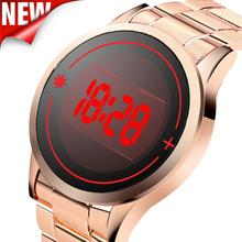 Men Watches Luxury Chic LED Digital Touch Screen Day Date Stainless Steel Band Quartz Gifts my26