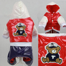 Winter Dog Clothes for Small Dog Jumpsuit Cute Bear Cartoon Pet Clothing roupa para cachorro Dog Costume Down Coat Jacket
