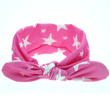 Promotion 1 PC Fashion Kids Girl Dot Knot flower Headband Newborn Kids Hair Accessories Children Elastic Hair Bands nice