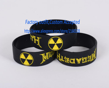1PC Heavy Metal Rock Style Band Megadeth Silicone Wristband Bracelet Promtion Custom Accepted(China)