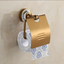 Free shipping Antique Aluminum Toilet Paper Holders Porcelain Base Bathroom products Paper Shelf Toilet Vanity bathroom hardware