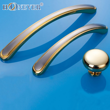 5pcs Gold Door Handle Modern Hardware Kitchen Cupboard Cabinet Bathroom Handle Solid Drawer Pull