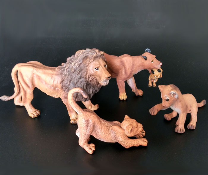 (4 pieces/set) Wild Lions Family Toy Model Set Plastic Real-looking Animals Decoration Figurine Children Gift Free shipping<br><br>Aliexpress