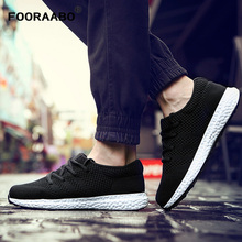 FOORAABO 2017 New Men's Casual Shoes Mesh Breathable Spring Autumn Black Male Classic Air Mesh Comfortable Men Shoes Flats