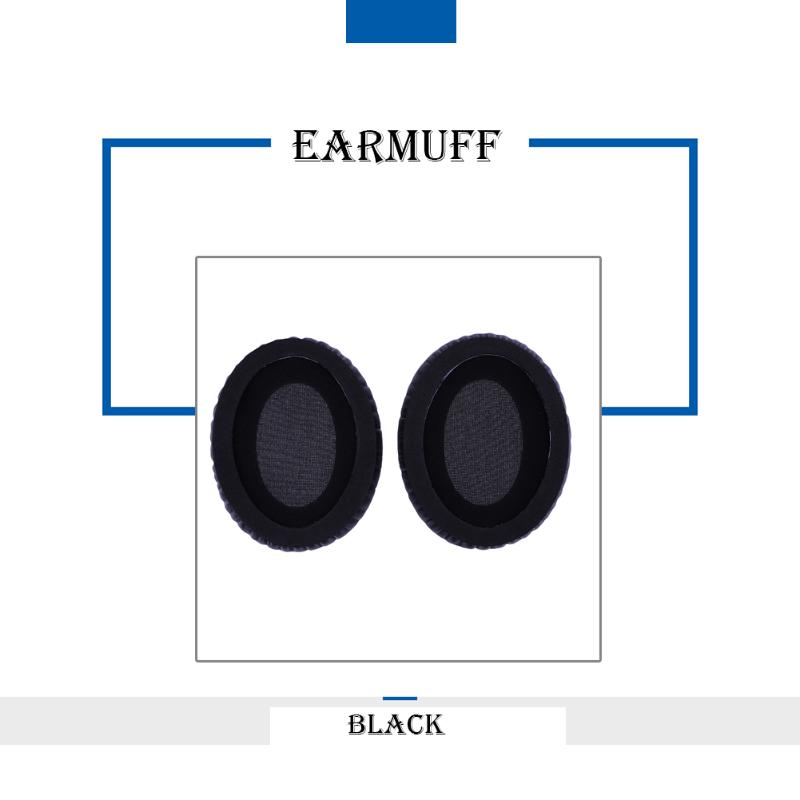 ALLOYSEED 1 Pair Black Replacement Ear Pads Cushion For EDIFIER H850 HIFI Headphone Soft Faux Leather Memory Foam Cushion