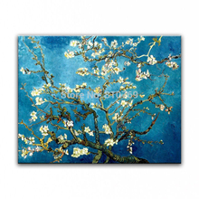 100% hand-painted Home decoration oil painting high quality Modern artists painting  Van Gogh Blossoming Almond Tree  14121014