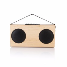 Wooden FM Radio Portable Bluetooth Wood Stereo Speaker Grain Wireless Home Bookshelf Speakers Enhanced Bass(China)