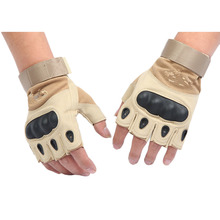 Military Tactical Gloves Antiskid Outdoor Cover Finger Mittens Winter Thermal Men Fighting Leather Blackhawk(China)