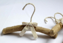 Hangerworld Baby's Style! Natural Linen Padded Clothes Hangers,25cm (20 pieces/ Lot)(China)