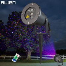 ALIEN Remote Red Blue Moving Christmas Outdoor Laser Light  Star Projector Waterproof IP65 Garden Xmas Tree Holiday Show Lights