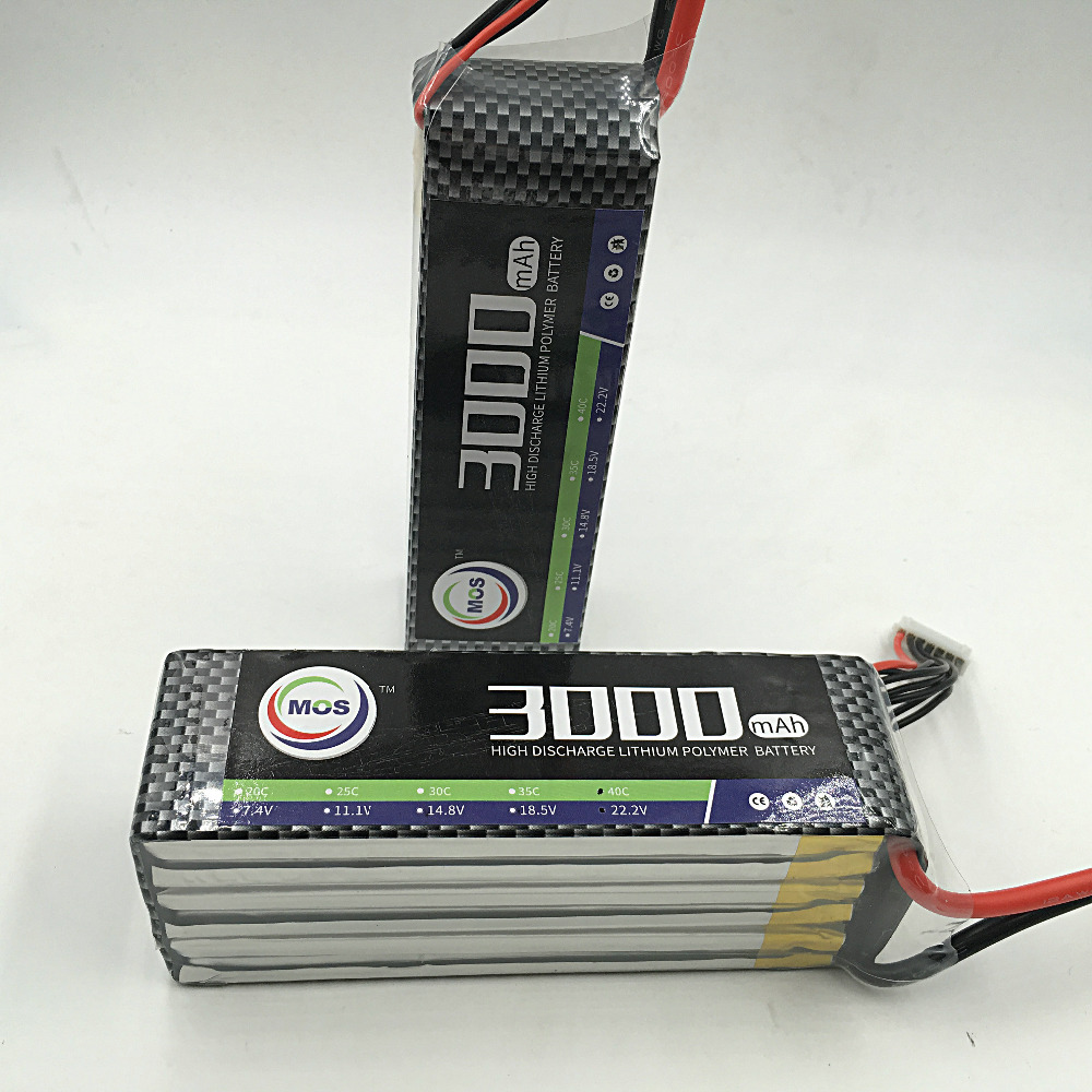 MOS 5S lipo battery 18.5v 3000mAh 25C For rc airplane free shipping<br><br>Aliexpress