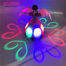 Kid Electric Toys Baby Musical Toys Dancing Doll Flashing LED Light Princess Toys Children Educational Toys Gifts For Girls(China)