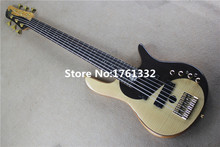 Hot sale 24 frets 6 strings electric bass guitar with gold hardware,flame maple veneer,Tai Ji pattern,can be changed as request