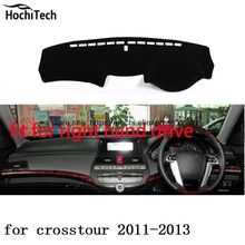 for honda crosstour right hand drive dashboard mat Protective pad black color car-styling Interior Refit Sticker Mat products(China)