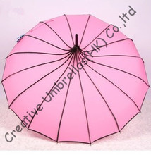 Advertising princess fashion parasol,decoration pagoda umbrellas and assorted colour allowed,hand open,tower parasol,16 ribs(China)