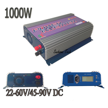 1000W LCD solar grid tie inverter with MPPT function,22-60V/45-90V DC,120/230V AC CE,RoHS ,SGS pure sine wave inverter