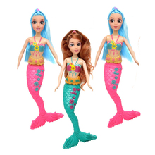 33cm Mermaid Dolls 3D Eye Swimming Wig For Mermaid Toys For Girls Moveable Joint Waist Swing Moxie Doll Dream Stuffed
