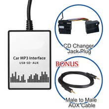 Car Digital Music CD Changer USB SD AUX-IN MP3 Player Adapter for BMW 3 5 7 X3 X5 Z4 Z8 E46 MINI R5x 94-08 40 Pin Plug