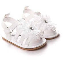 Pro Summer Cute Baby Girls Sandals Princess Flowers Toddlers Kids Shoe Toddler Baby Girl Shoes Kids Toddler Sandals(China)