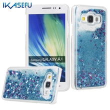Fundas for Samsung A3 Hard Bling Case for Coque Samsung Galaxy A3 2015 A300 A300F Glitter Quicksand Protective Back Cover Capas