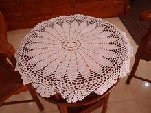 Luxury white Cotton Crochet tablecloth Table cloth towel doilies round lace handmade Table Covers for home wedding decoration