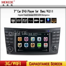 Multi language In-Dash HD capacitive Screen Car DVD player for BENZ W211 W219 W463 Stereo Radio Bluetooth Phone GPS Navigation