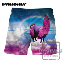 Dykhmily Sheep In The Sky 3d Print Board Shorts Quick Dry Mesh Short Pant Beach Shorts Summer Mens Shorts Plus Size Casual Style(China)