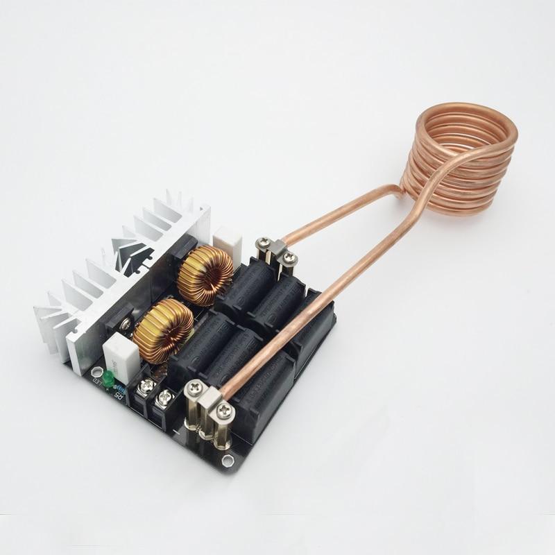 1000W ZVS Low Voltage Induction Heating Board Module/Tesla Voil + coil 12v-48V<br><br>Aliexpress