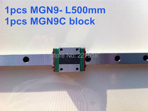 1pcs  linear rail  MGN9 500mm with mini MGN9C <br>
