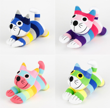 1pc 12cm Creative Handmade Stuffed Kawaii Stripe Sock Cat Baby Toys Birthday Gift Christmas New Year Soft Animals Doll Cat